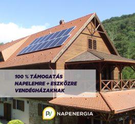 AEG napelemes rendszer vendégházaknak, pályázati forrásból