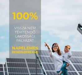 Megújuló energia mindenkinek, önerő NÉLKÜL